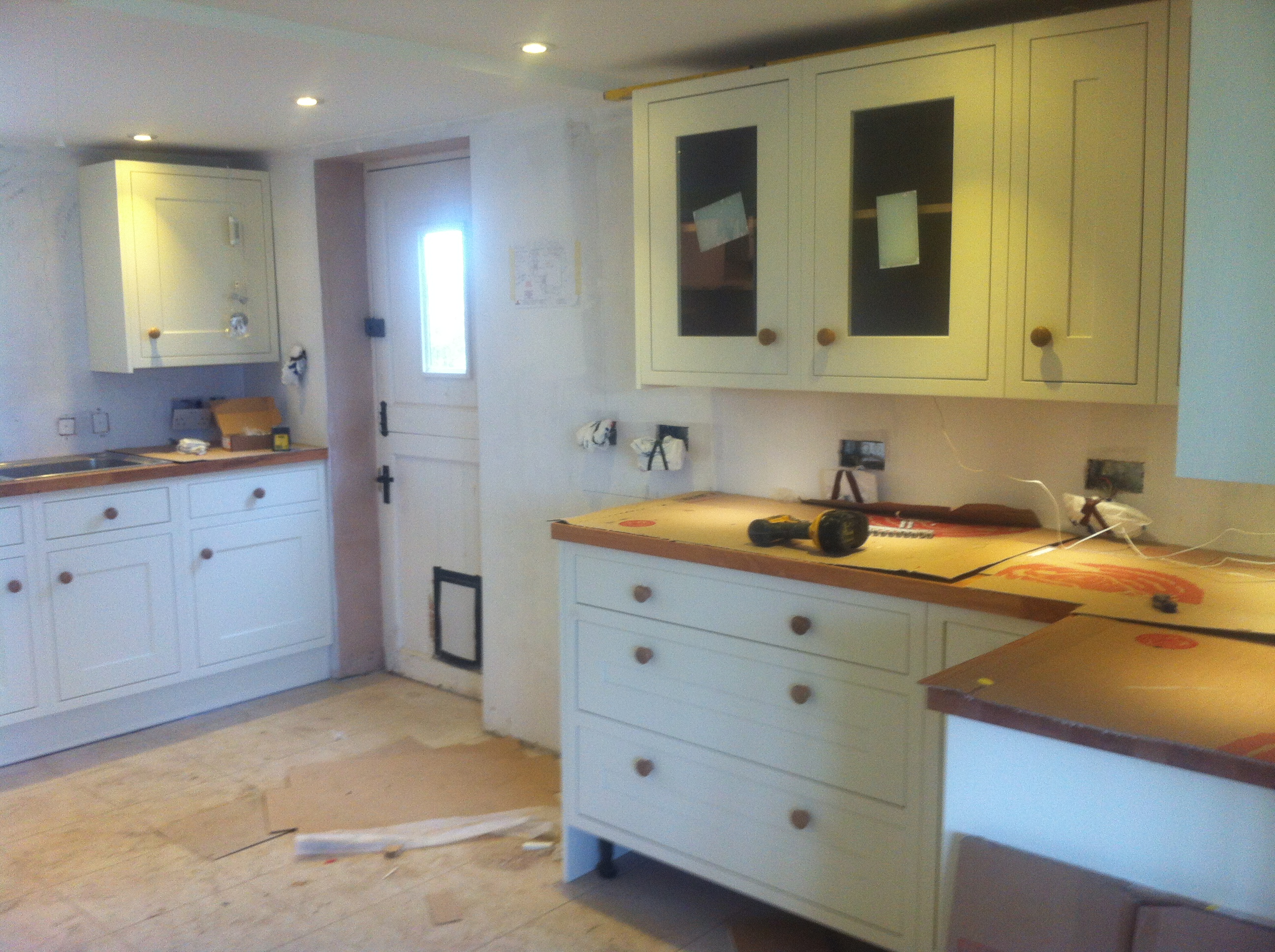 Cottage Kitchen fitting in Berrick Salome